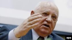 Former Soviet leader Mikhail Gorbachev (file photo)