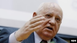 Mikhail Gorbachev at the presentation of his new book.