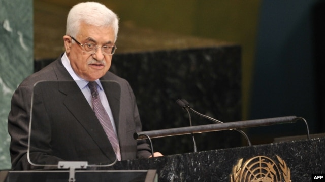 Palestinian Authority President Mahmud Abbas speaking at the UN in September.