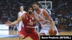 Kvalifikaciona utakmica košarkaških reprezentacija Crne Gore i Srbije za odlazak na Euro 2013., septembar 2012.