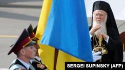 Вселенський патріарх Варфоломій, який прибув до України з нагоди 1020-річчя Хрещення України-Руси, 25 липня 2008 року