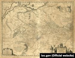 Генеральна карта України Боплана, 1648 року. Назва: Delineatio generalis Camporum Desertorum vulgo Ukraina: cum adjacentibus provinciis. (Щоб відкрити мапу у більшому форматі, натисніть на зображення)