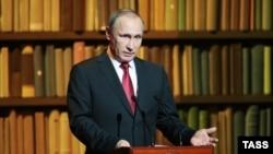 Президент России Владимир Путин. Санкт-Петербург, 14 декабря 2015 года.