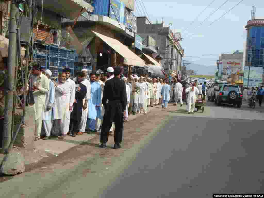 Voting in the Swat district of the northwestern Khyber Pakhtunkhwa Province