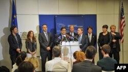 هیئت ۹ نفره اتحادیه اروپا در واشینگتن