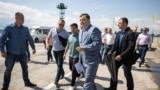 Президент Зеленский посетил Чонгар. Как это было (видео)