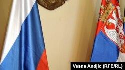 Zastava Rusije i Srbije