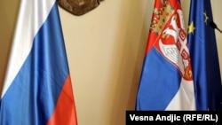 Zastava Rusije, Srbije i Evropske unije