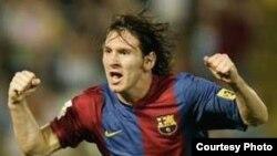Лионель Месси - лучший футболист сезона 2008-2009 года по версии УЕФА. Фото с сайта www.euro-football.ru