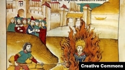 Ян Гус Констанц шаарында өрттөлүүдө. 6-июль 1415-жыл