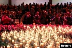 Поминальная церемония по жертвам катастрофы рейса MH17 в Амстердаме, 10 ноября 2014 года