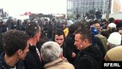 Protest Samoopredeljenja kod Podujeva, 14. januar 2012.