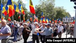 Several thousand protesters gathered in the capital, Chisinau, to protest the changes.