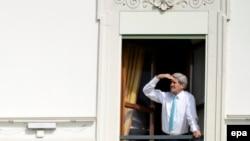 На снимке: госсекретарь Керри во время встречи в Женеве по ирнаской ядерной программе