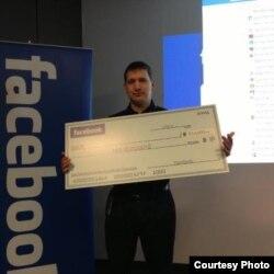 Facebook-тың хакерлер сайысын ұтқан ресейлік програмист Петр Митричев. Сурет ашық ресурстан алынған