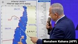 د اسرائیل صدراعظم بنیامین نتانیاهو پر نقشې د نښې کولو پر مهال.