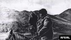 Улуу манасчы Саякбай Каралаев ат минип, куш салганды да жанындай көрчү.