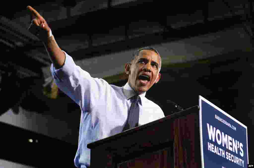 Выступление Барака Обамы в Денвере, штат Колорадо, в рамках предвыборной компании