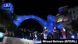 Svečanost ispod Starog mosta, Mostar, 3. juli 2015.