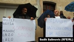 Sa protesta u Srebrenici 28. septembra 2015