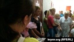 Очередь в крымской районной поликлинике. Архивное фото