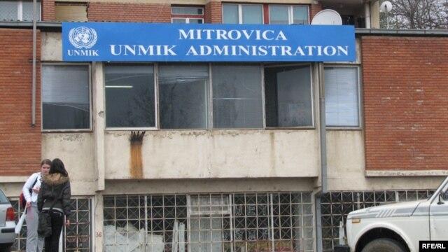 Kosovo, ured UNMIK-a u Mitrovici, april, 2008.