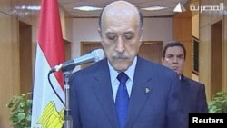 Then Vice President Omar Suleiman announced Hosni Mubarak's departure in February 2011.