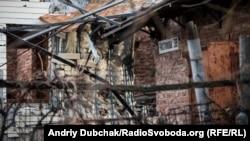 Зруйноване українське село Піски