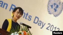 آنگ سان سوچی رهبر میانمار