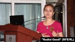 Глава Коалиции женщин-журналистов Таджикистана Мухайё Нозимова.