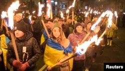 Смолоскипова хода в Києві, 1 січня 2014 року