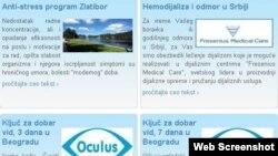 Ponuda jedne od agencija za medicinski turizam u Srbiji
