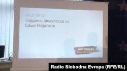 """Фотографија од една од прес-конференциите на СДСМ на кои беа објавувани т.н. """"бомби"""""""
