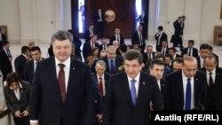 Украина президенты Порошенко һәм Төркия премьер-министры Даутоглу