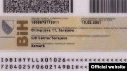 Jedinstveni matični broj na ličnoj karti, ilustracija