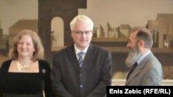 Predsjednik Hrvatske Ivo Josipović i ministri Andrea Zlatar Violić i Predrag Marković, Zagreb, 23. ožujka 2012.