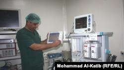 غرفة العناية المركزة بالمستشفى الجمهوري في الموصل