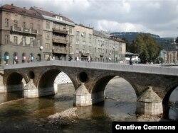 Латинский мост в Сараево, недалеко от места убийства Франца Фердинанда и Софии