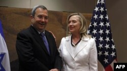Хиллари Клинтон и министр обороны Израиля Эхуд Барак