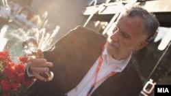 Режисерот Владимир Блажевски, добитник на Кристален глобус на Филмскиот фестивал во Карлови Вари за филмот Панкот не е мртов.