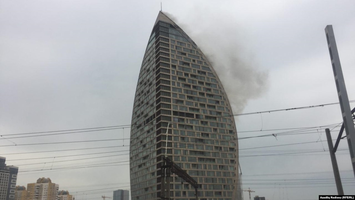 Fire Hits Former Trump Tower In Baku