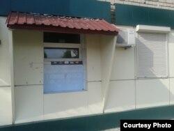 Фото автора. Непрацюючий банкомат на центральному відділенні так званого «Центрального республіканського банку» угруповання «ДНР» у Торезі