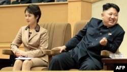 Ким Чен Ын и Ли Соль Чжу
