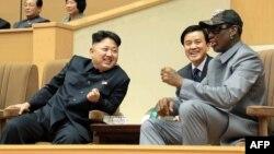 Ким Чен Ын и Деннис Родман