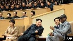 Kim Jong-Un dhe Dennis Rodman
