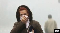 Загаден воздух, смог и магла во Скопје 14.12.2017