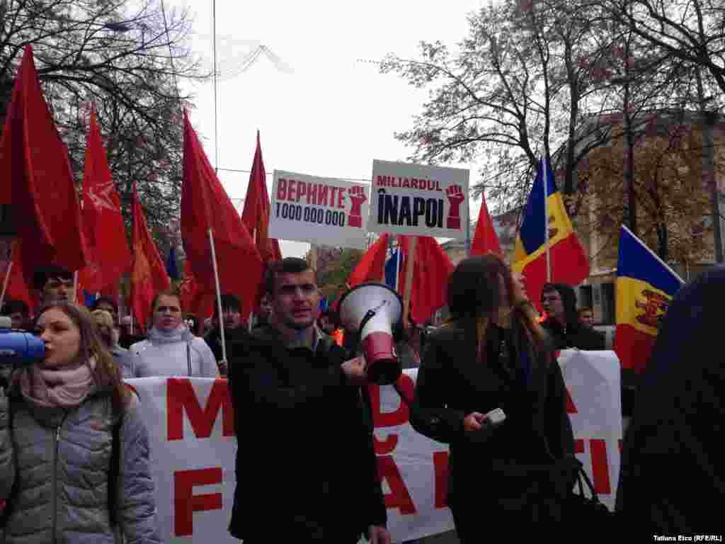 Cele două coloane de protestatari s-au întâlnit în centrul capitalei