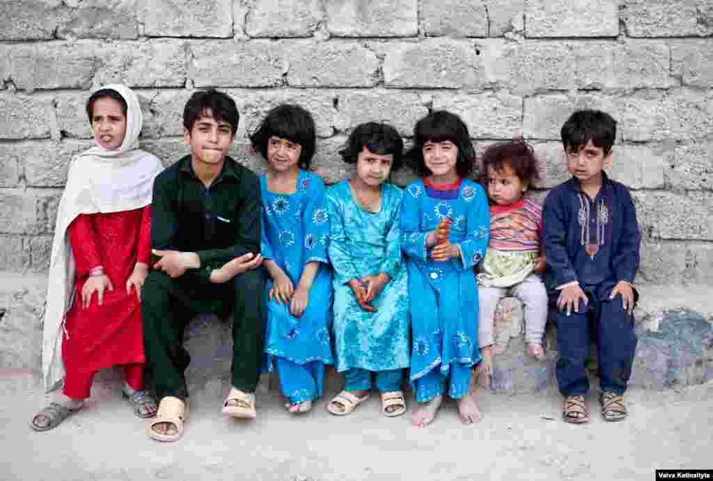 Returnees have little access to shelter, water, or medicine. These children, all born to Afghan families in Pakistan, can't go to school in Kabul because they do not have Afghan identity cards.