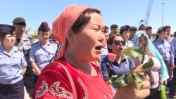 Women Gather At Kazakh President's Palace, Demand Social Reforms