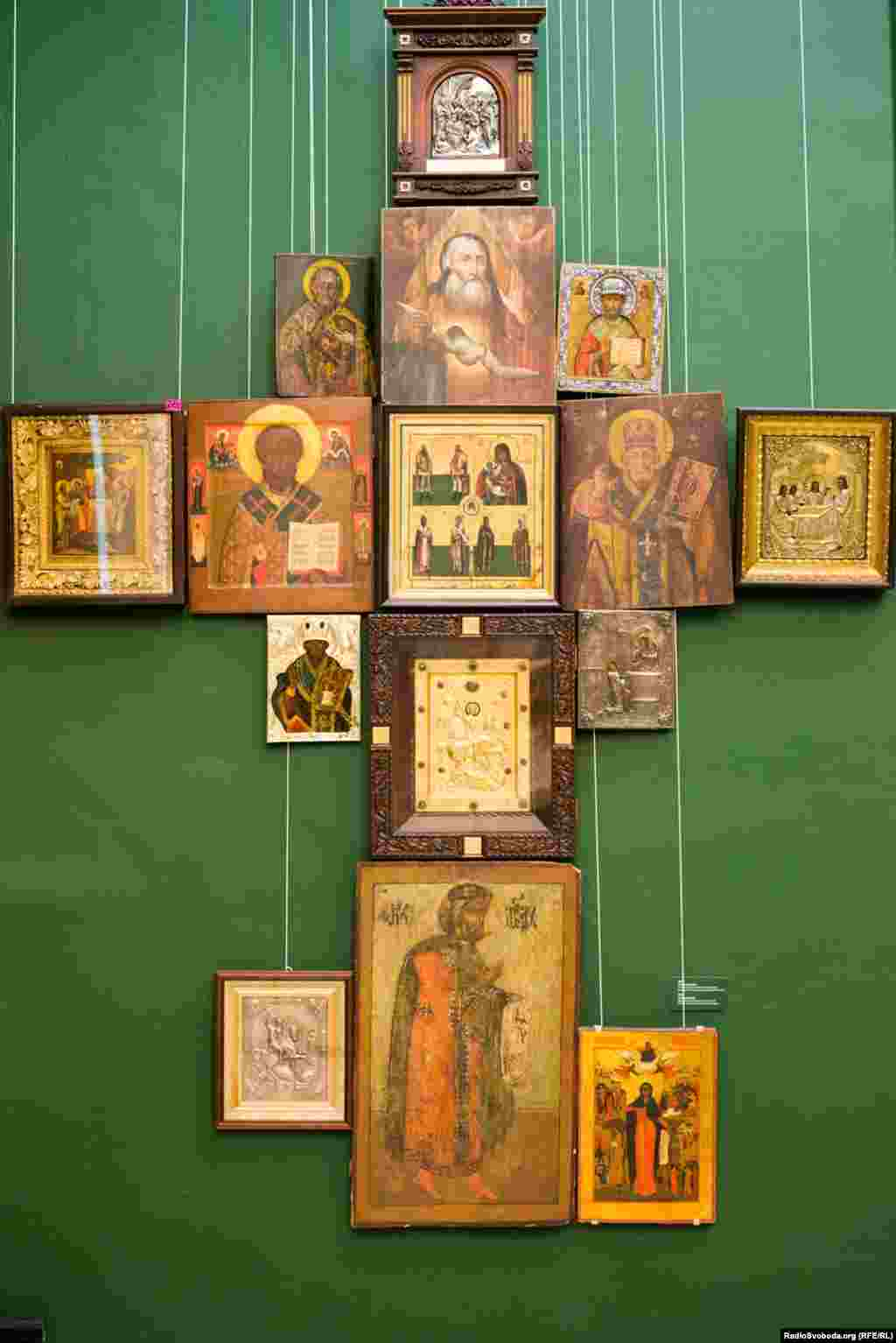Yanukovych had a large collection of religious icons.
